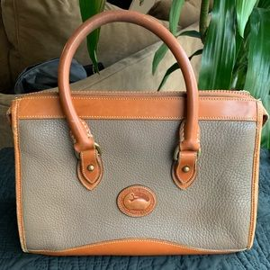 Dooney and Bourke pebble two tone leather bag